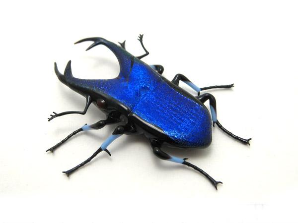 glass sculptor Wesley Fleming - artwork, 'Cobalt Jewel ...