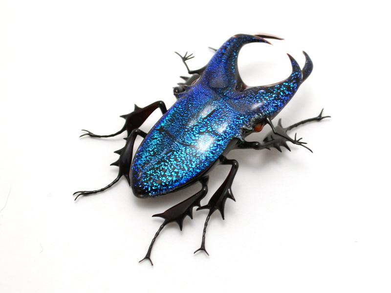 glass sculptor Wesley Fleming - artwork, 'Cobalt Stag ...