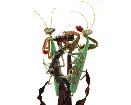 Lampworked glass sculpture by Wesley Fleming