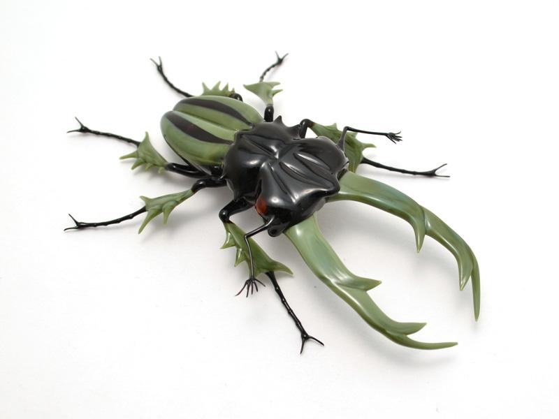 Glass Sculptor Wesley Fleming Artwork Giant Stag Beetle